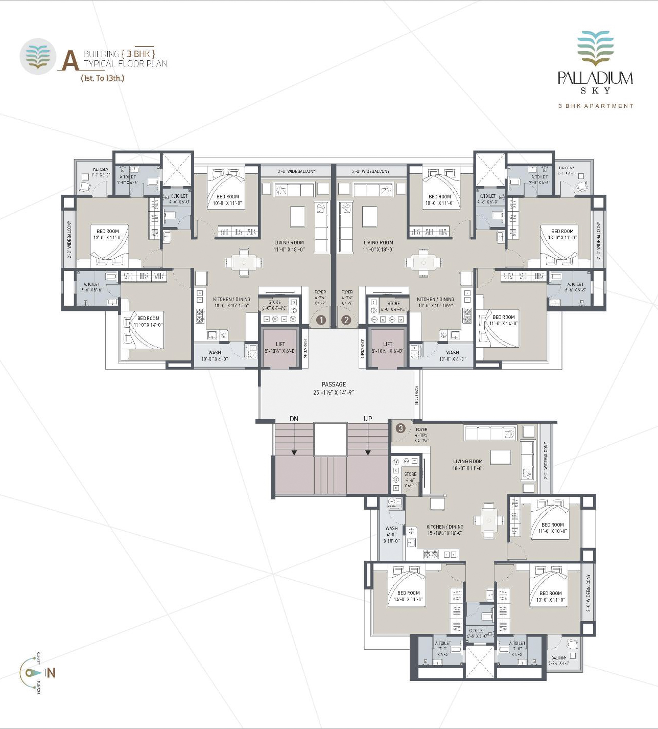 A Building Typical Floor Plan